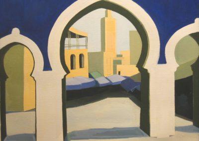 Blue Gate - Bab be Jeloud 34x34