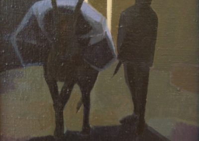 Boy and Mule - 8x8