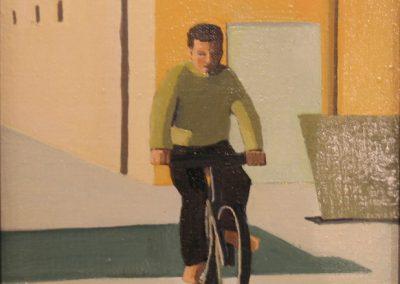 Man on Bicycle - 8x8