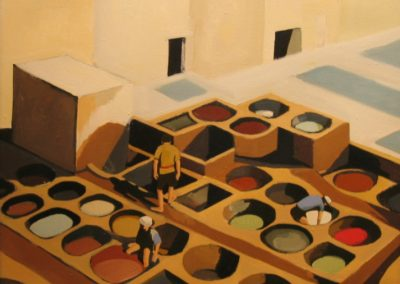 Tanneries in Fez - 34x34